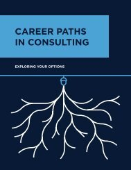 CAREER PATHS IN CONSULTING - Campbell Alliance