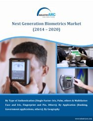 Next Generation Biometrics Market worth $21 billion by 2020