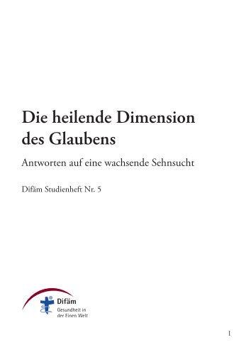 Kirche als heilende Gemein- schaft - Deutsches Institut für Ärztliche ...