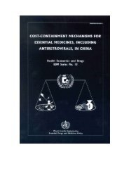 Cost containment mechanisms for ARV and other essential ...