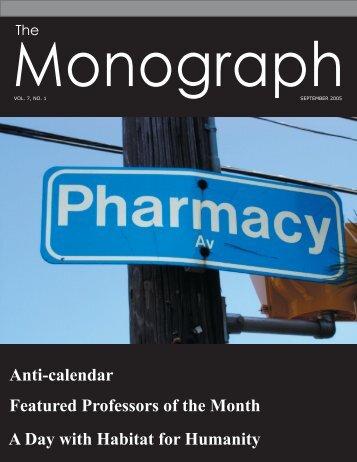 September - University of Toronto's Undergraduate Pharmacy Society