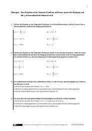 Übungen: Den Graphen einer linearen Funktion zeichnen ... - dianoia