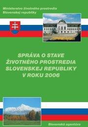 Správa o stave životného prostredia Slovenskej ... - Enviroportál