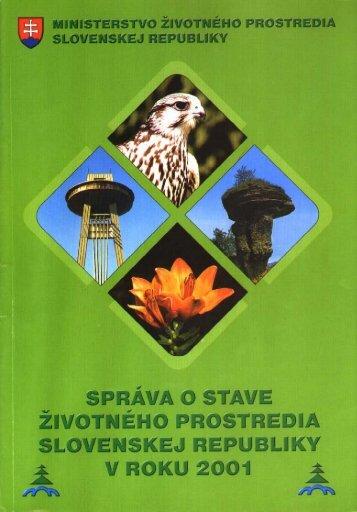 2001 Starostlivosť o ŽP
