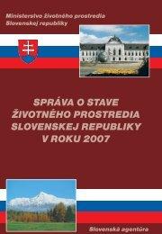 správa o stave životného prostredia slovenskej republiky v roku 2007