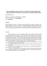 Revize předpisů pro navrhování ochranných opatření ... - ATEKO s.r.o.