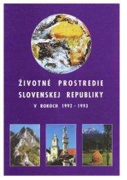 Životné prostredie Slovenskej republiky v rokoch ... - Enviroportal.sk