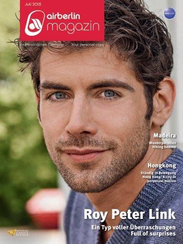 Juli 2015 - airberlin magazin - Roy Peter Link