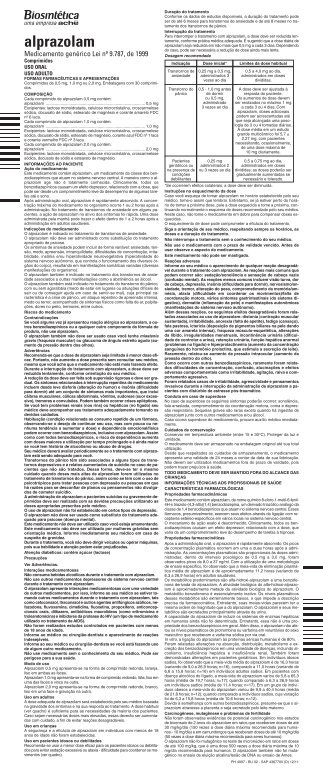 BU Alprazolam 4367700 Bio_Layout 1 - Aché