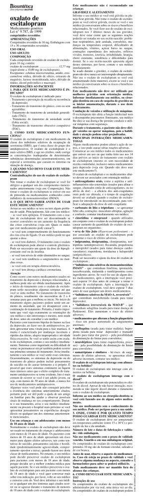 BU ESCITALOPRAM 4300601(A)_BU oxalato de escitalopram - Aché