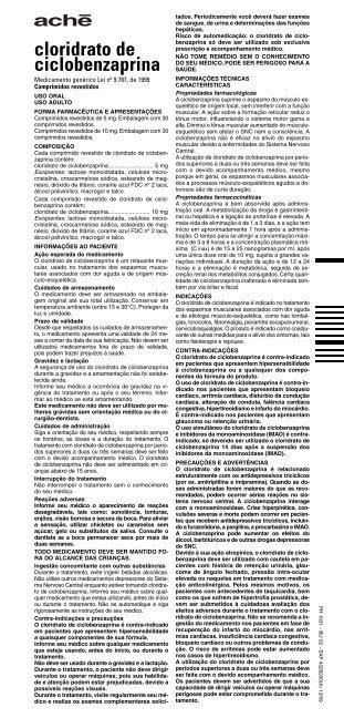 cloridrato de ciclobenzaprina - Consulta Remédios