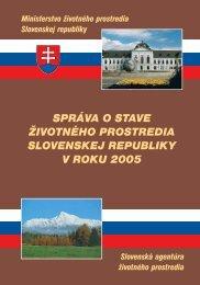2005 Environmentálna regionalizácia SR a zaťažené oblasti