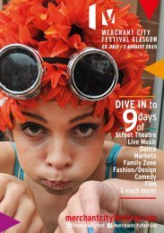 Merchant City Festival brochure 2015