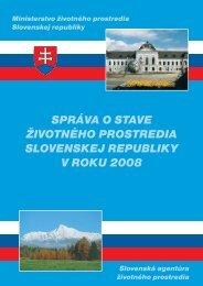 2008 Environmentálna regionalizácia SR a zaťažené oblasti