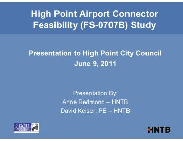 High Point Airport Connector 06/13/11 ... - Transportation