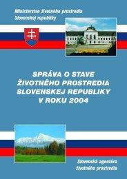 správa o stave životného prostredia slovenskej republiky v roku 2004