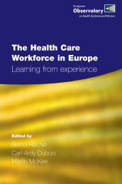 The health care workforce in Europe. Learning from experience