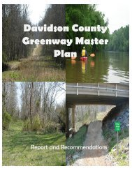 Davidson County Greenway Master Plan - Transportation