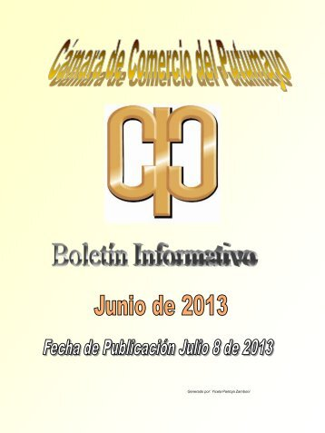 Boletin Junio 2013 - Cámara de Comercio de Putumayo