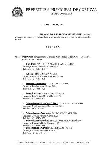 27/01/2009 - Prefeitura Municipal de Curiúva