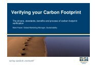 Benefits of Verifying your Carbon Footprint