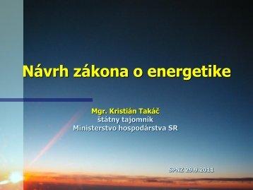 Návrh zákona o energetike