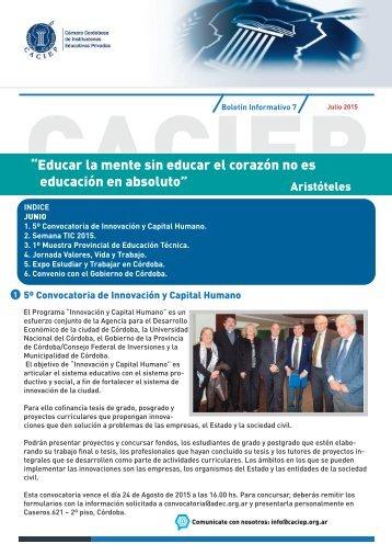Boletín CACIEP junio