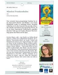 Newsletter - Mission Frankenhuhn-von Evelyne Mayer