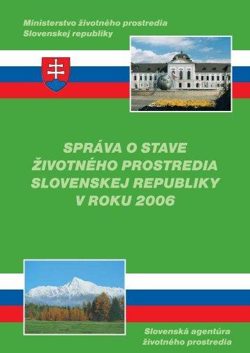 2006 Vplyvy hospodárskych odvetví na ŽP