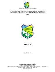 campeonato sergipano de futebol feminino 2009 tabela - Infonet