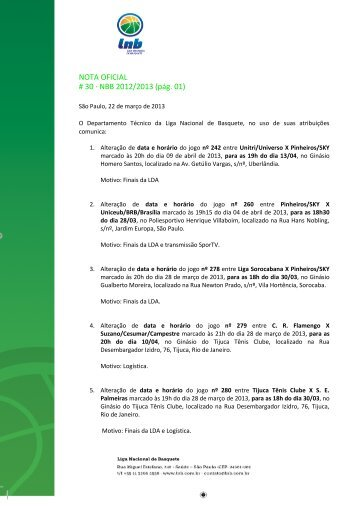 23/03/2013 Nota Oficial 030 - NBB 5 pdf