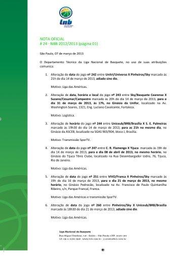08/03/2013 Nota Oficial 024 - NBB 5 pdf