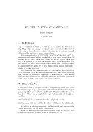 STUDIER I MATEMATIK ANNO 2005 - Institut for Matematik - Aarhus  ...