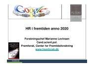 HR i fremtiden anno 2020