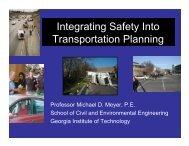 Integrating Safety into Transportation Planning – Meyer
