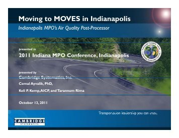 Moving to MOVES in Indianapolis - Indianapolis Metropolitan ...