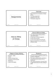 Assignments How to Write an Essay - Computer Applications in ...