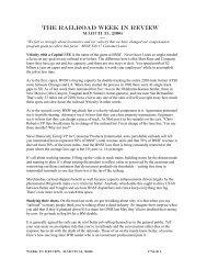 Week Ending 3/31/2006 - The Blanchard Company