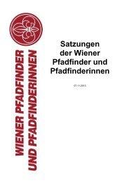 Satzungen der Wiener Pfadfinder und Pfadfinderinnen