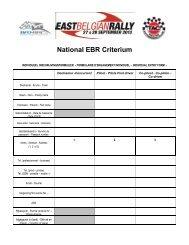 National EBR Criterium
