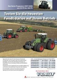 Testen Sie die neuesten Fendt-Varios auf Ihrem ... - AGCO GmbH