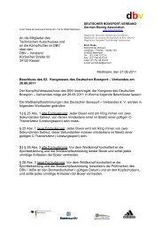 Änderung der wettkampfbestimmung des DBV (stand 27.06.2011)