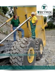 Hightech-Schmierstoffe und Top-Service für Ihre Hydraulik ... - Tectrol