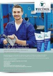 Die optimale Saugkraft für Öl und Chemikalien. - Tectrol