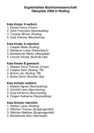Ergebnisliste Bezirksmeisterschaft 2008