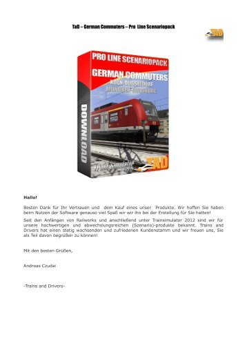 TaD – German Commuters – Pro Line Scenariopack - Trains and ...
