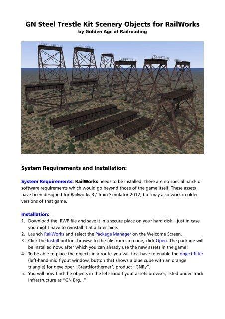 GN Steel Trestle Kit Scenery Objects for RailWorks