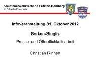 und Öffentlichkeitsarbeit - Kreisfeuerwehrverband Fritzlar-Homberg