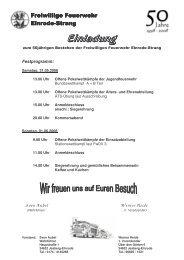 50 Jahre FFW Elnrode-Strang - Kreisfeuerwehrverband Fritzlar ...