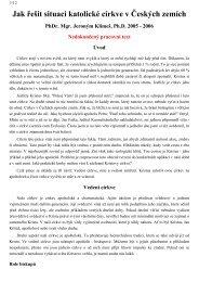 Jak řešit situaci katolické církve v Českých zemích - Jeroným Klimeš